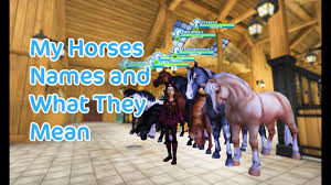 mean names star stable online my horses names and what they mean youtube