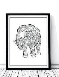 Patchwork Elephant Book - elmer the elephant coloring page