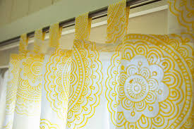 India Curtains Yellow Sheer Indian Bohemian Curtains