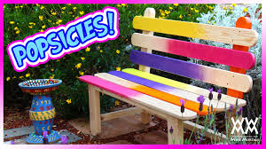 popsicle stick bench fun and colorful diy project for your garden