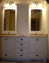 Double Vanity With Tower Bathroom Vanities With Tower Storage Double Vanity With Center