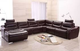 Modern Reclining Sectional Sofas Brown Reclining Sectional Sofa Fabrizio Design Cool Modern