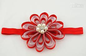 ribbon flowers ems free princess girl 4 grosgrain ribbon flowers headbands