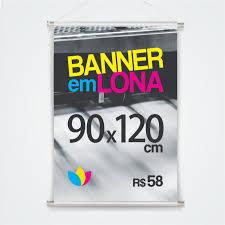 Excepcional Banner em Lona 90 x 120 cm #UX91