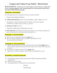 quote comparison format comparing and contrasting essay compare contrast outline block