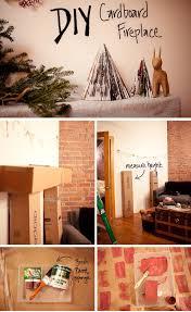 diy cardboard fireplace mantle etc