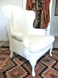white wing chair slipcover wingback chair slipcovers wing back chair slipcover image of chair