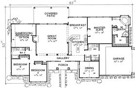 5 Bedroom Country House Plans Pretty Looking 5 Patio Home Plans One Story European House Plan