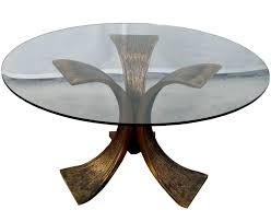 coffee tables breathtaking gold and glass coffee table round
