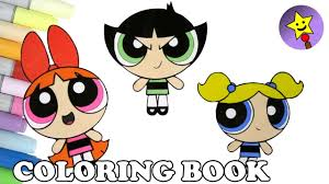 powerpuff girls coloring book bubbles blossom buttercup coloring