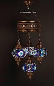 Mosaic Chandelier Turkish Handmade Mosaic Chandelier 3 Medium Globe Mosaic Lamp Hanging