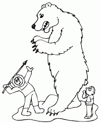 printables toddlers polar bear coloring pages