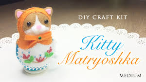diy clockwork cat russian doll japanese sewing craft kit youtube