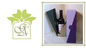 wine bottle gift box small wine bottle drop sided box wine holder gift box tutorial
