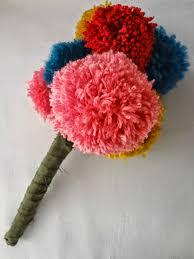 how to make a pom pom bouquet u2014 crafthubs