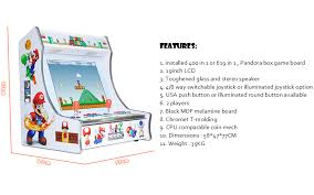 bartop arcade cabinet dimensions christmas gift mini bartop arcade game machines with pandora box 4s