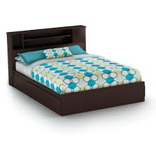 queen storage bed with bookcase headboard home design ideas