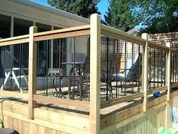 deck railing ideas general fencing gates decks and railings