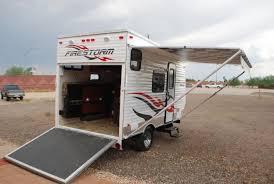 ultra light toy hauler 2012 solares trailers used inventory dunesport com toy haulers