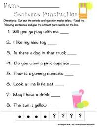6 pack pick the punctuation simple sentences reading fluency