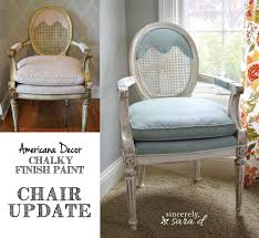 painted upholstered chair using chalk paint sincerely d
