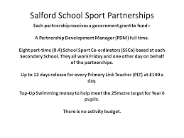 target manager on black friday salford has 2 sport partnerships salford north and salford