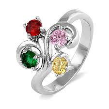 to the heart 4 swirl birthstone ring s addiction
