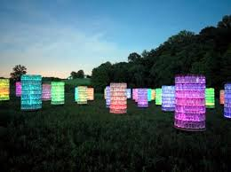 modern light installation by bruce munro the light as an