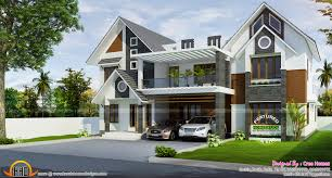 european style home sloping roof in kerala sq m sqft pictures