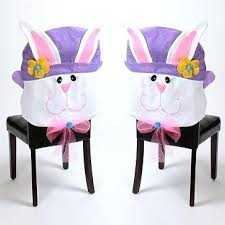 chair back cover easter chair back covers best images on recipes fours bunny