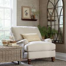 chairs jeannette wingback cream arm chair matching pillow accent