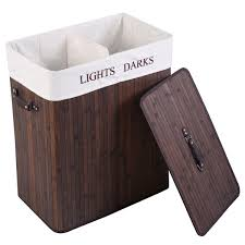 Light And Dark Laundry Hamper by Double Rectangle Bamboo Hamper Laundry Basket Laundry Baskets