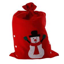 large santa sack snowman christmas gift present stocking bag red