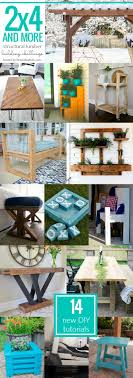 remodelaholic 9 cool wood projects november link party diy 2x4 upholstered farmhouse style bench frazzled joy