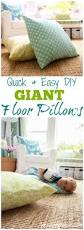 quick and easy home improvements giant diy floor pillows floor pillows pillows and bean bag chair