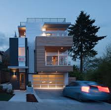 modern homes plans wood windows in modern seattle home with homes plans 16