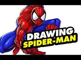 speed drawing spider man draw spiderman
