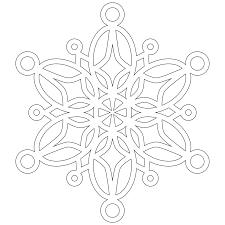 snowflake mandala coloring pages half dozen 8x8 inch snowflakes