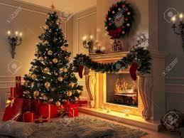 christmas tree and presents christmas lights decoration