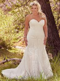 plus size fit and flare wedding dress maggie sottero rosamund lovely in lace this fit and flare plus