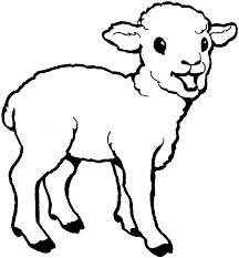 lamb coloring page www bloomscenter com