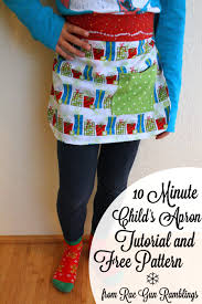 free kid s apron sewing pattern and tutorial gun ramblings