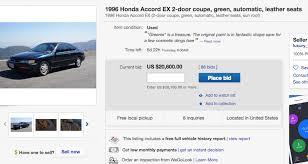 honda accord history car commercial for used 1996 honda accord gets offers