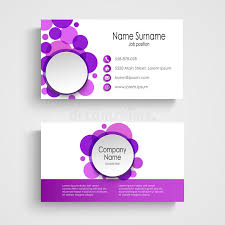 Round Business Card Modern Violet Round Business Card Template Stock Vector Image