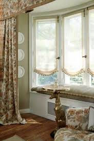 window treatments for bay windows suit with small curtain