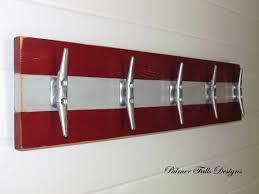 Sailboat Bathroom Accessories by Boat Cleat Rack Towel Rack Nautical Coat Rack Nautical