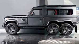 land rover defender 2015 black kahn u0027s insane 6x6 defender yours for a mere 200 000 top gear