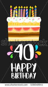 happy birthday card template vibrant color stock vector 359310836