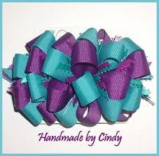 ribbon boutique turquoise purple hair bow large ribbon boutique women loop