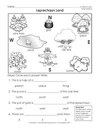 reading a map worksheet easy and free to click and print st